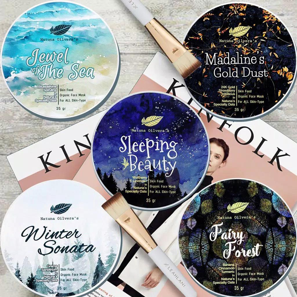 Natuna Masker Organik ( SkinFood ) Organic Face Mask MaskerOrganik Facemask for All Skin Type