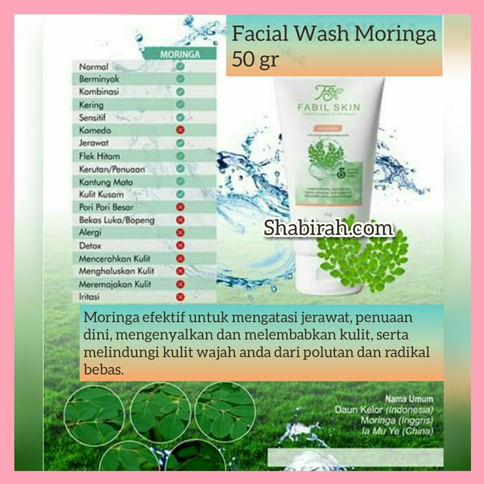 Facial Wash Moringa