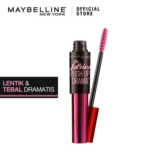 Maybelline Push Up Drama Waterproof Mascara MakeUp - Very Black