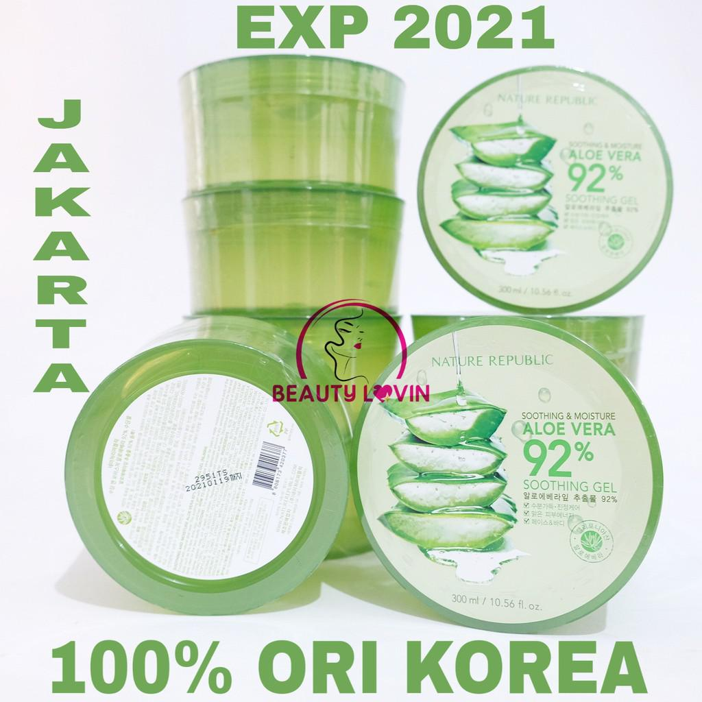 [PROMO] Nature Republic - Aloe Vera Gel 300ml Soothing Gel in JAR 100% Original Korea